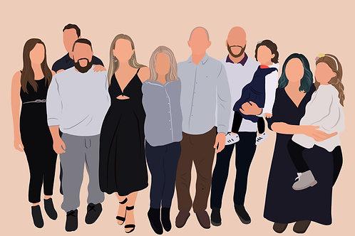 Custom Digital Illustration | Faceless Drawing