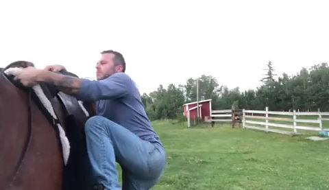 Jimmy, under saddle.