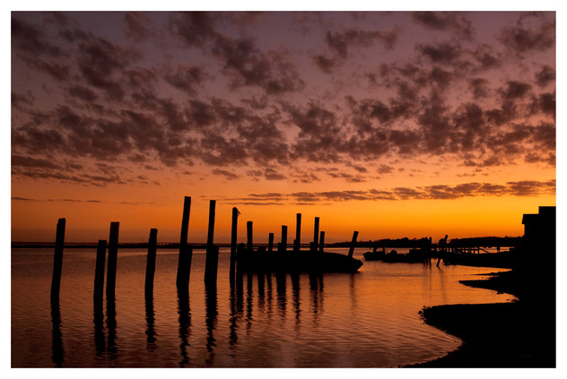 Sunset over the bay, East Point, Florida Panhandle