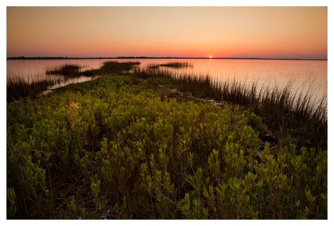 Sunset on the marsh, Jekyll Island, Georgia