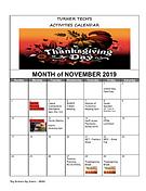 Turner Tech November '19 Calendar