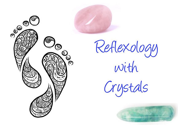 reflexology with crystals