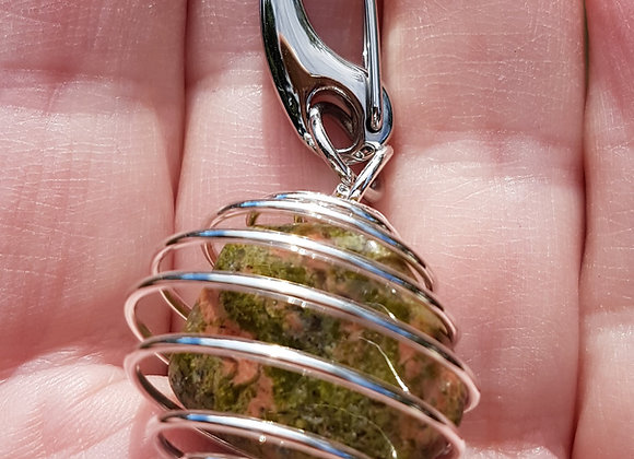 Healing Crystal Charm - Release of Bad Habits - Unakite