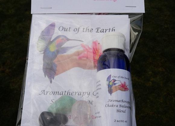 Chakra Self-Balancing Kit with Aromatherapy & Crystals