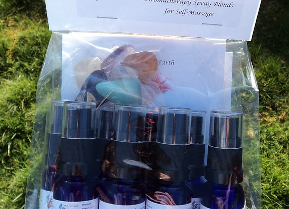 Ultimate Chakra Balancing Kit with Essential Oil Sprays & Crystals