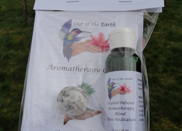 Aromatherapy Crystal Massage & Tree Meditation Kit - Tree Agate