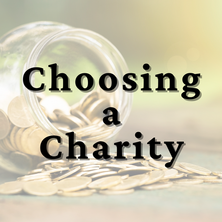 Episode 43: Choosing a Charity
