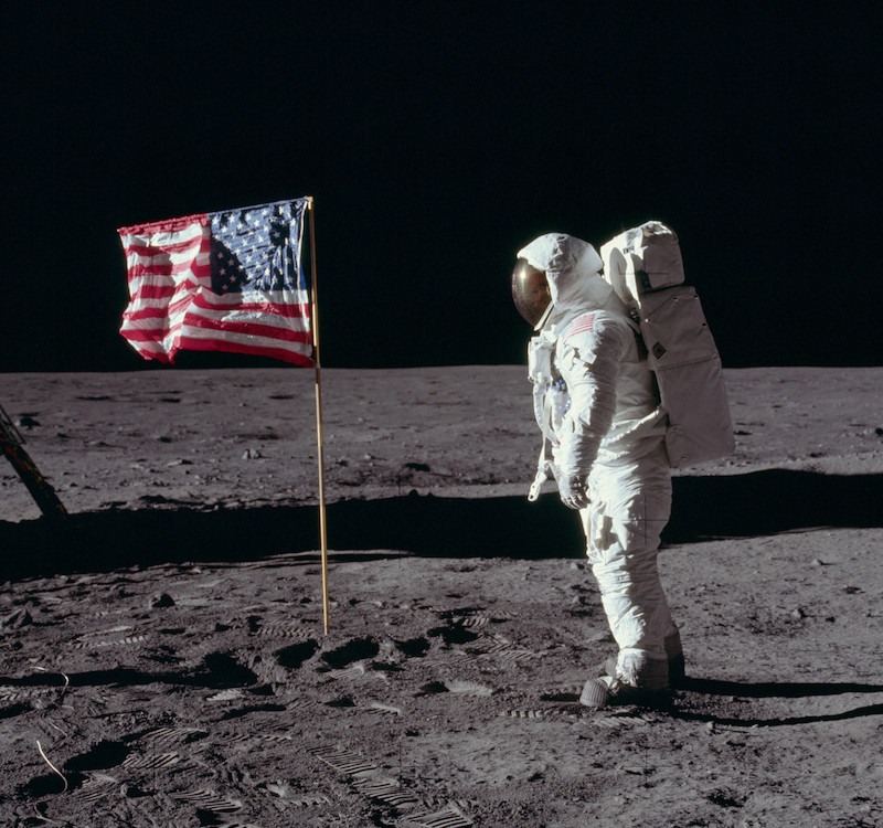 Neil Armstrong Walking on moon.