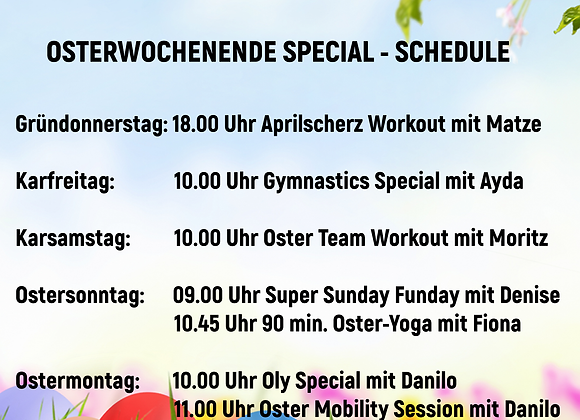 TICKET OSTERSPECIAL CLASSES