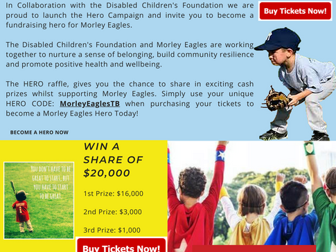 BECOME A MORLEY EAGLES HERO TODAY