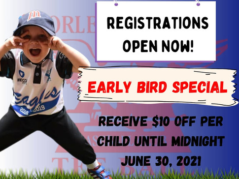Early Bird Registrations Open NOW!