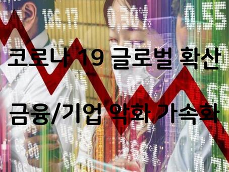 코로나19 영향 장기화, 금융/기업 상황 악화
