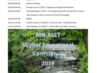 Winter educational meeting agenda is finalized!