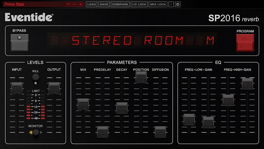 Reverb de Studio d'enregistrement : zoom sur le SP2016