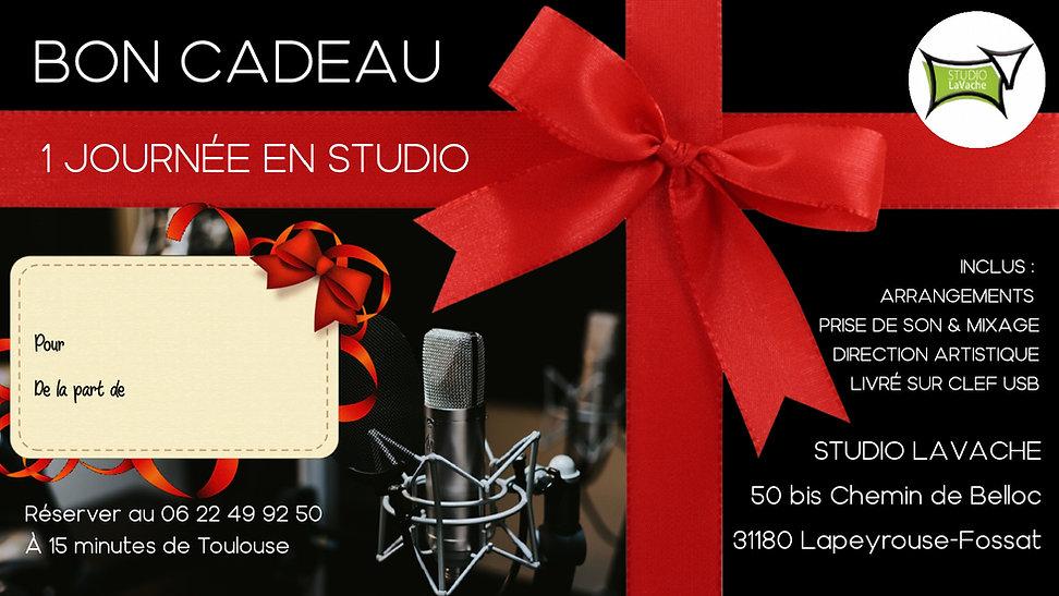 Bon cadeau - Studio d'enregistrement Tou