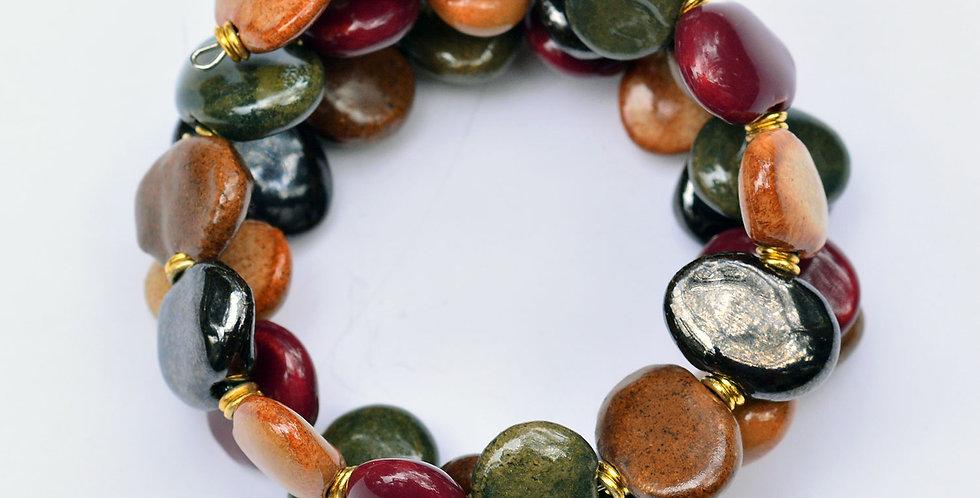 Shale Earthling, Kazuri Bracelet