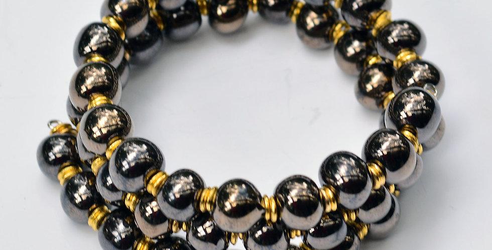 Kanga Antique Gold, Kazuri Bracelet