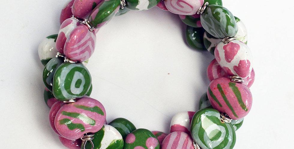 Shale Kaleidoscope Bella, Kazuri Bracelet