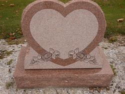 Artisan Rose heart slant
