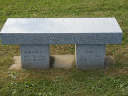 Heirloom Blue Gray cremation bench
