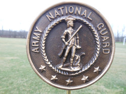 Army National Guard bronze flag holder