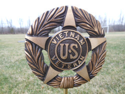 Vietnam War bronze flag holder