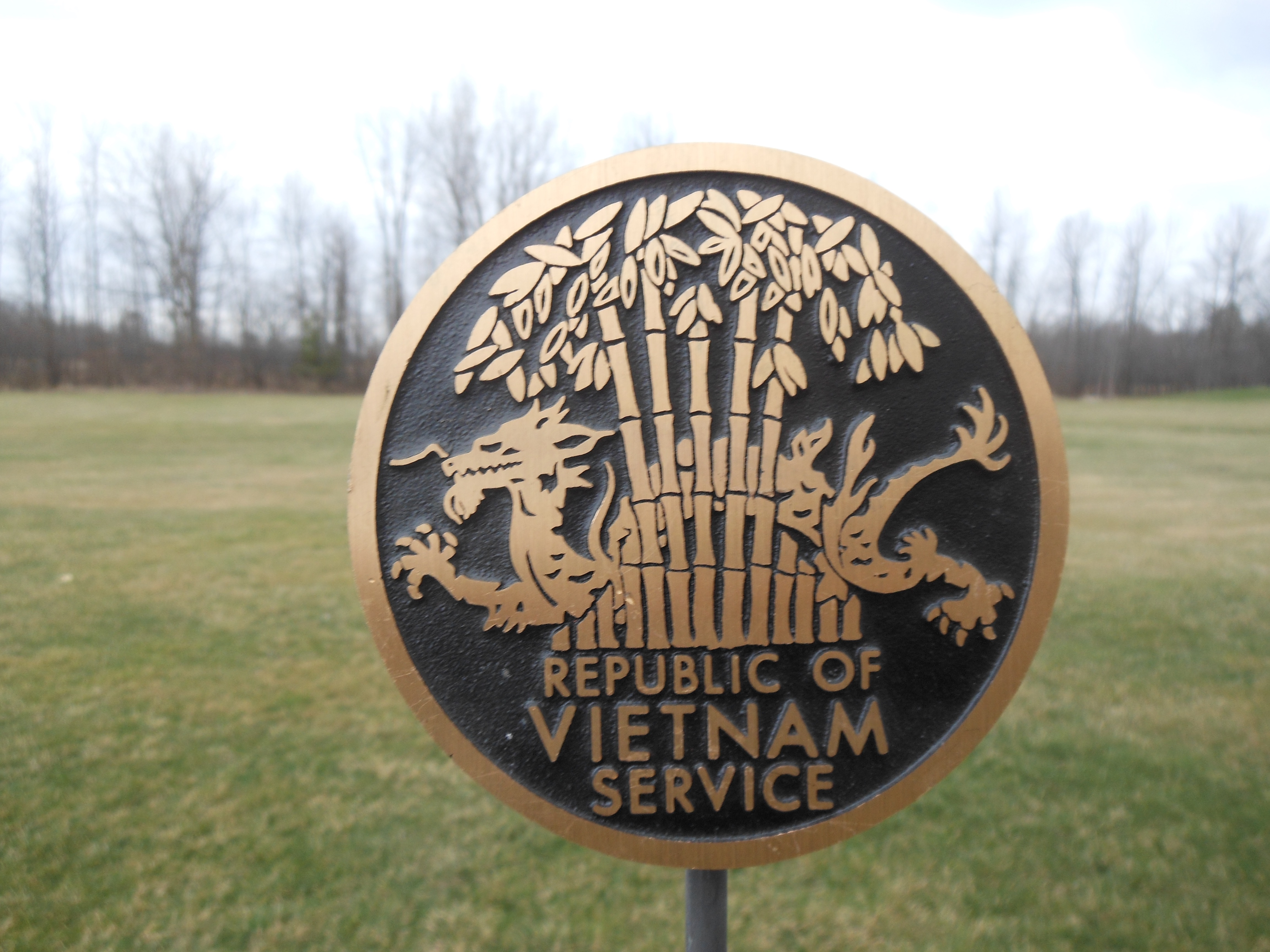 Vietnam War bronze flag holder