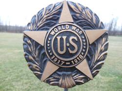 WW I bronze flag holder
