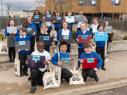 FIRST LAPTOPS HANDED TO CHILDREN