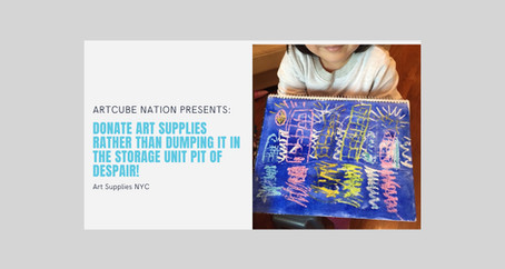 Donate Art Supplies Rather Than Dumping It In the Storage Unit Pit of Despair!