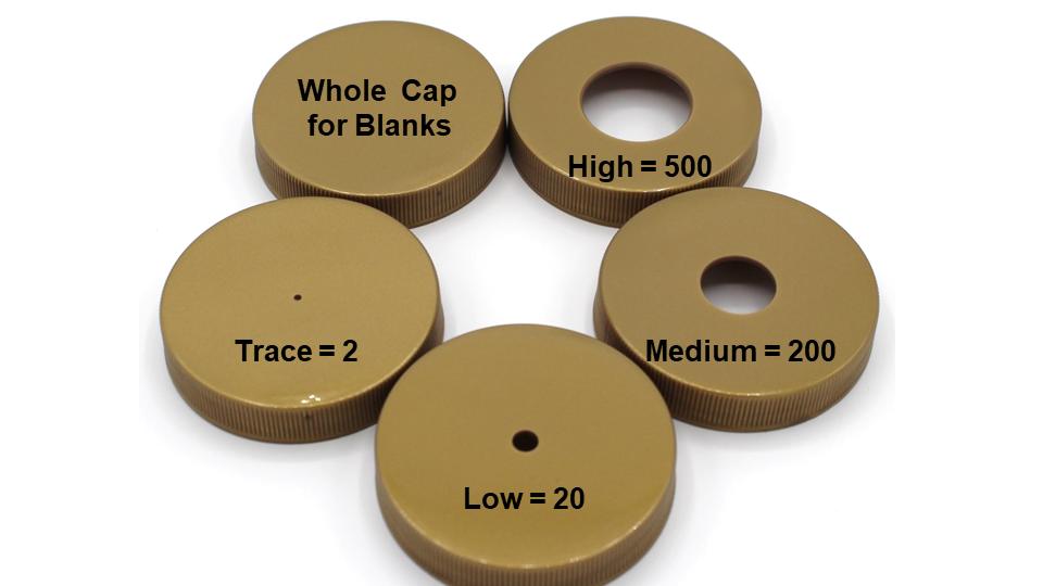 Odor Restriction Caps (Set of 5)