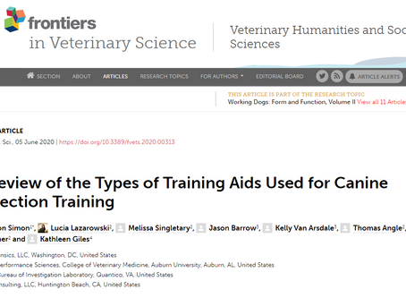 A Review of the Types of Training Aids Used for Canine Detection Training