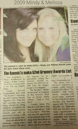 Melissa Ramski  associated The Ramski Grammy  list 2009