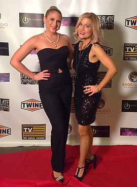 Melissa Ramski with Lizzie at the Indie Ville TV Awards