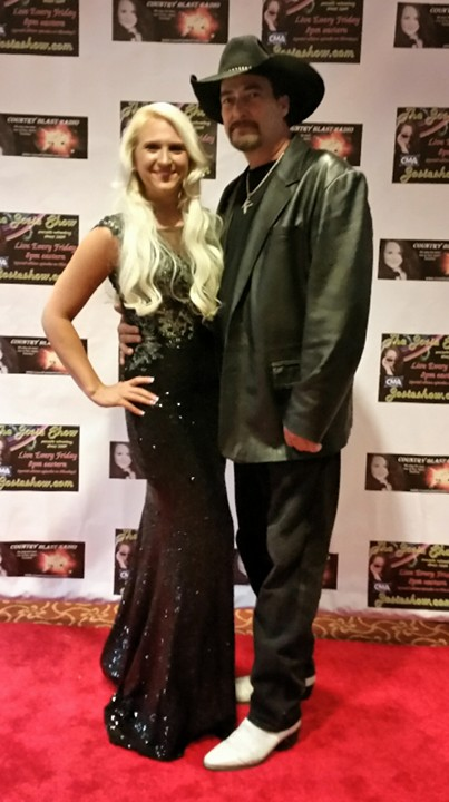 At Josie Passantino Award Show and Concert Melissa Ramski with Kenny Lee Producer of Record Label KL
