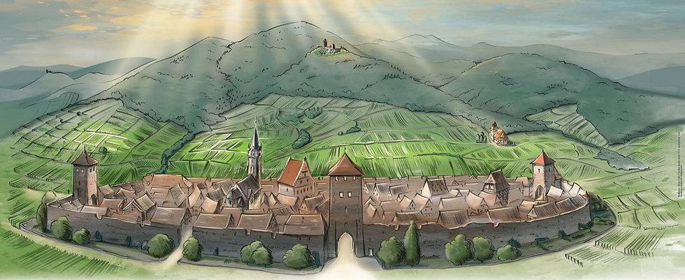 Maison des Compagnons, Tour d'Ebersheim, Dambach