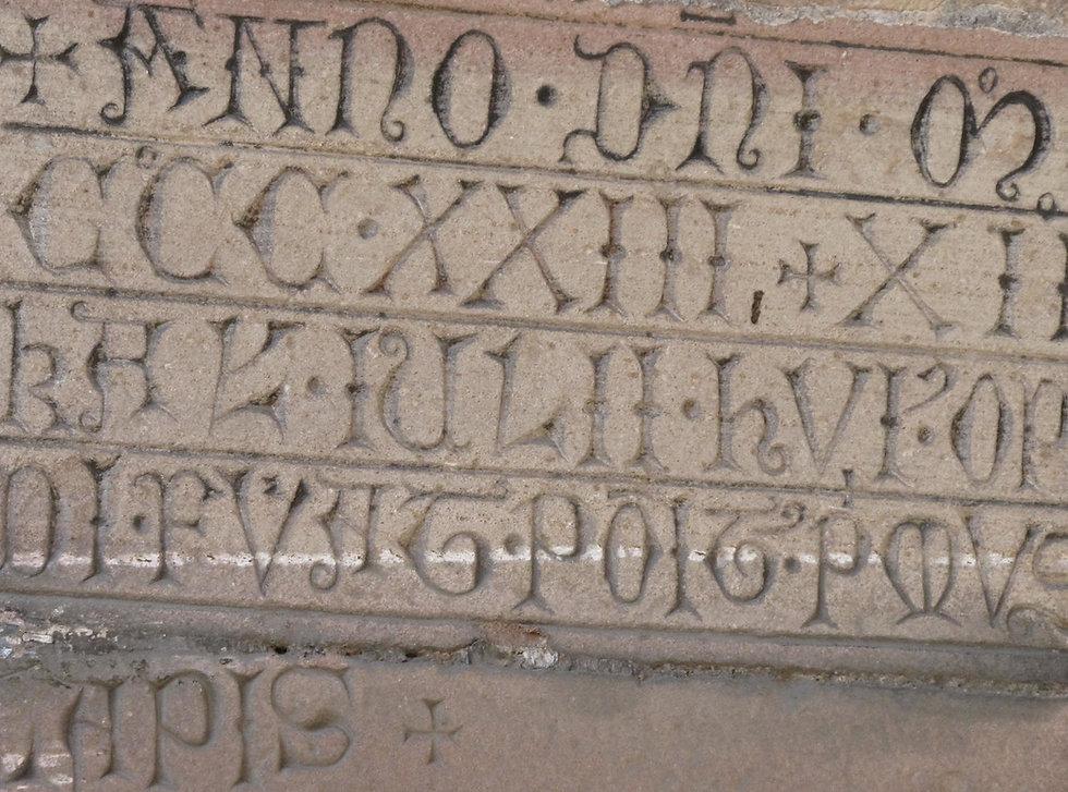 Inscription Untertor Dambach-la-Ville Co