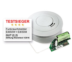 EI Funkrauchmelder Ei650W inkl Funkmodul EI600MRF