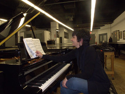 At the original Steinway Hall