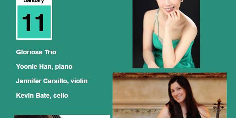 Gloriosa Trio - Yoonie Han, piano, Jennifer Carsillo, violin and Kevin Bate, cello