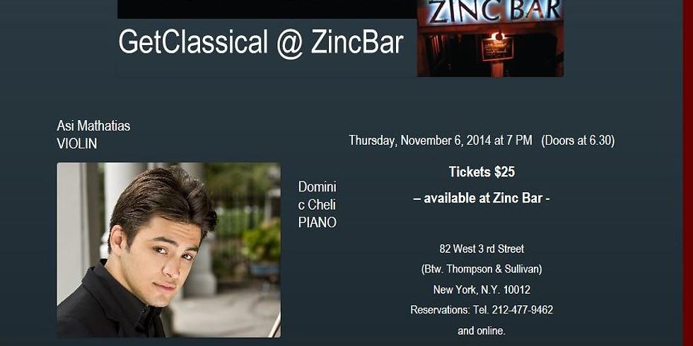 Asi Matathias (violin) and Dominic Cheli (piano) at GetClassical@Zincbar