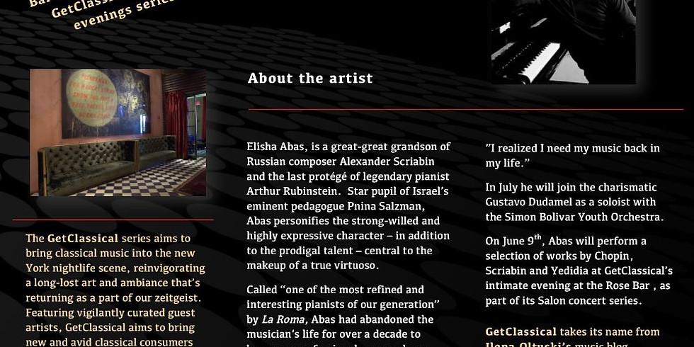 Elisha Abas - Scriabin in the genes, presented by GetClassical@Rosebar