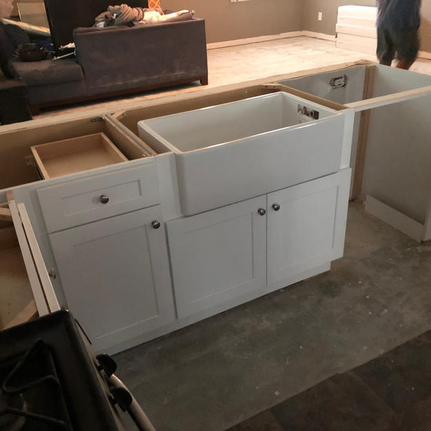 FarmHouse Sink and Cabinet