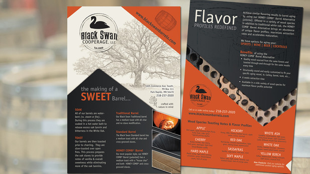 Print Marketing Black Swan cards