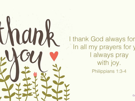 I Thank God for You...