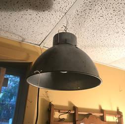 Lampe galvanisé 11 pouces de diamètre