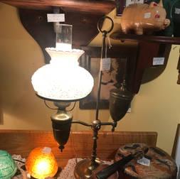 Tres Vieille lampe électrique en cuivre