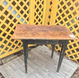 Table pin34 par22pouceshaut28 vieux  vert