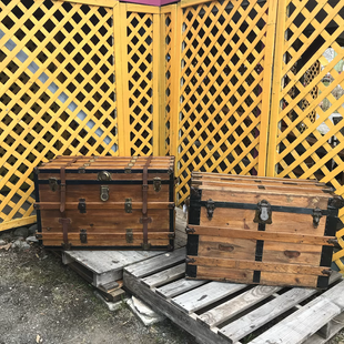 2 valises restaurées
