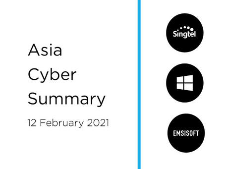 12 February 2020 | Asia Cyber Summary